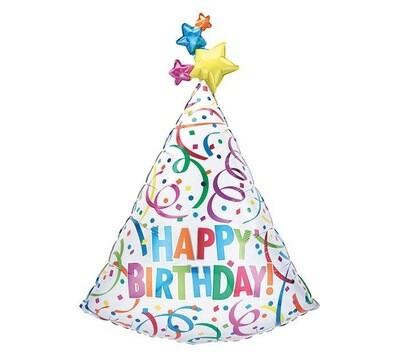 "36"" Birthday Bash Hat Balloon 6703436"