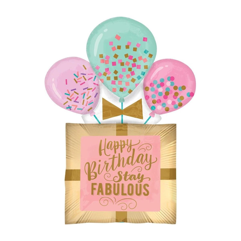 """32"""" Fabulous Birthday Gift Balloon 4924436"""
