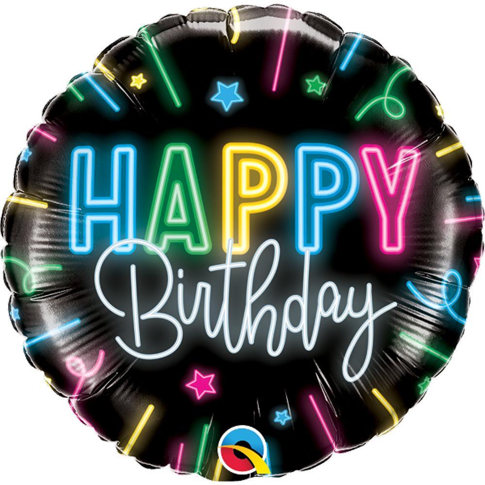 """18"""" Birthday Neon Glow Balloon 2302318"""