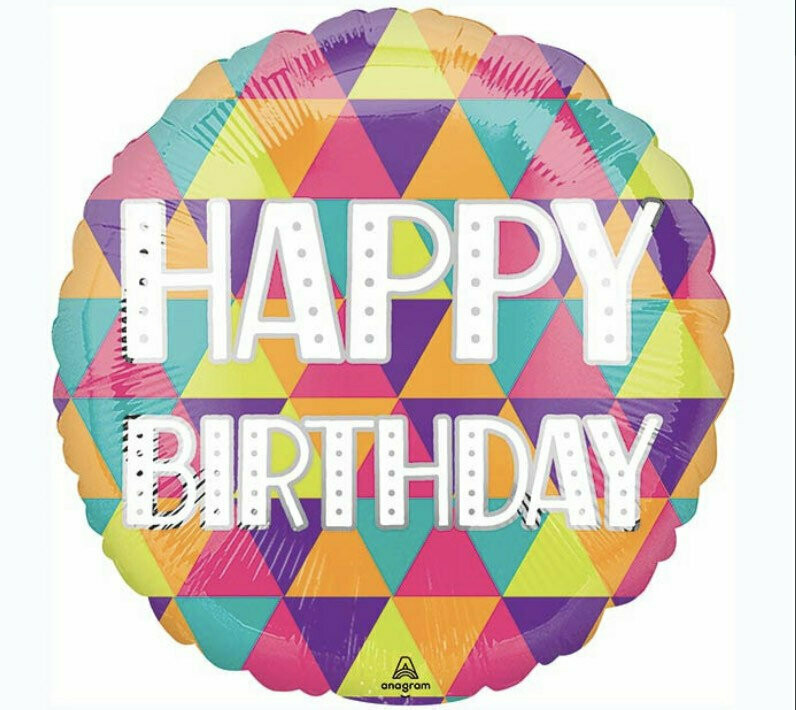 "17"" Colorful Happy Birthday Balloon 4944518"