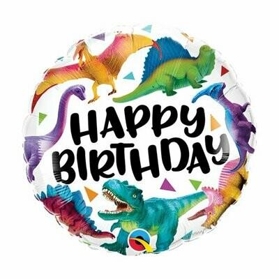 "18"" Happy Birthday Dinosaurs Balloon"