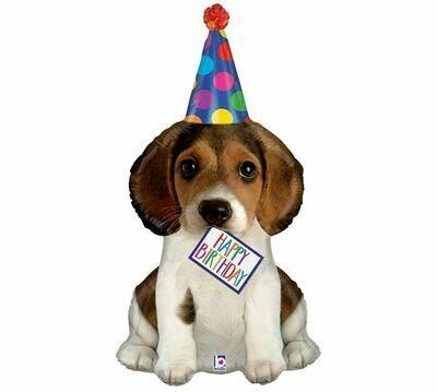 "41"" Happy Birthday Puppy Balloon"