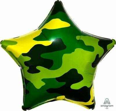 19' Camouflage Star Balloon