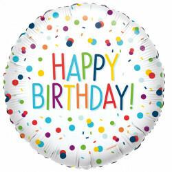 "17"" Happy Birthday Confetti Balloon"