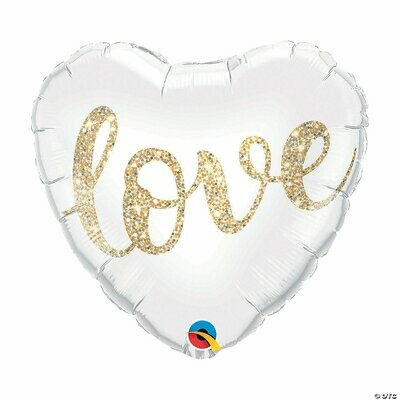 "18"" Love Glitter Gold Heart Balloon 2288918"