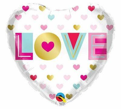 """18"""" Love Metallic Hearts Balloon 2296018"""