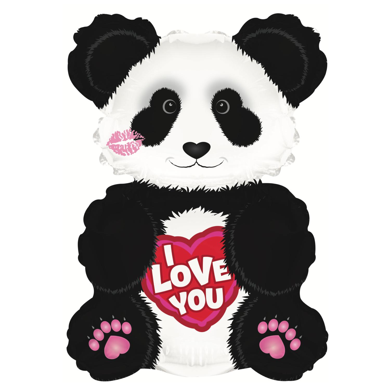"12"" I Love You Panda Balloon"