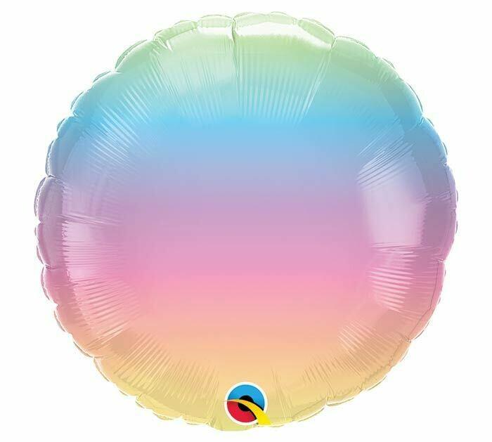 "18"" Pastel Ombre Round Balloon 2295618"