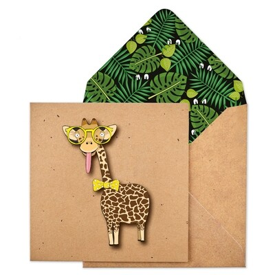 Bowtie Giraffe Card