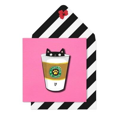 Latte Cat Card