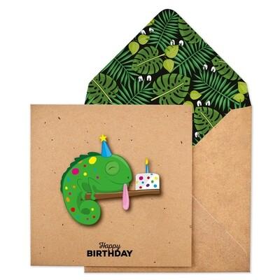 Birthday Chameleon Card