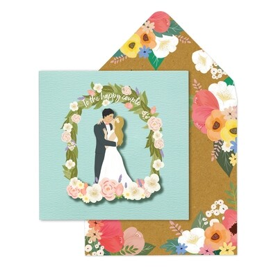 Mr and Mrs Couple Floral Arch Card