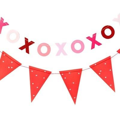 Valentine XOXO & Pennant Banner Set