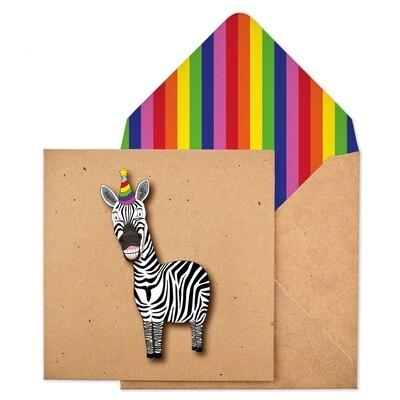 Birthday Zebra Card