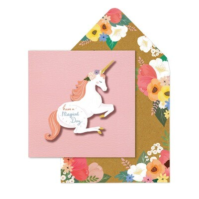 Have A Magical Day Unicorn Card