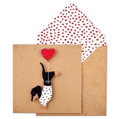 Heart Dachshund Card