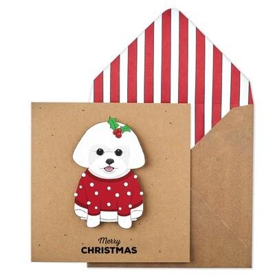 Merry Christmas Bichon Card