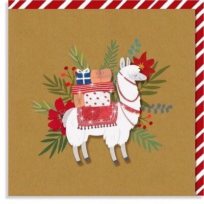 Christmas Llama Card