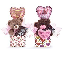Happy Valentines Day Plush Gift Box w/ Hershey Bar