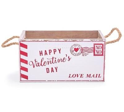 Love Mail Wood box w/ handles