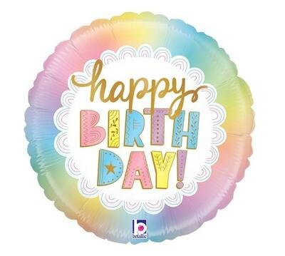 "18"" Birthday Holographic Balloon 7839618"
