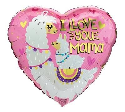 "17"" I Love You Mama Balloon"
