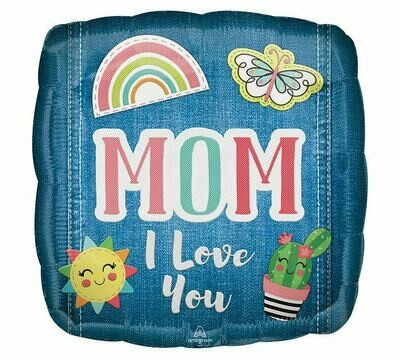 """17"""" Mom I Love You Patched Balloon"""