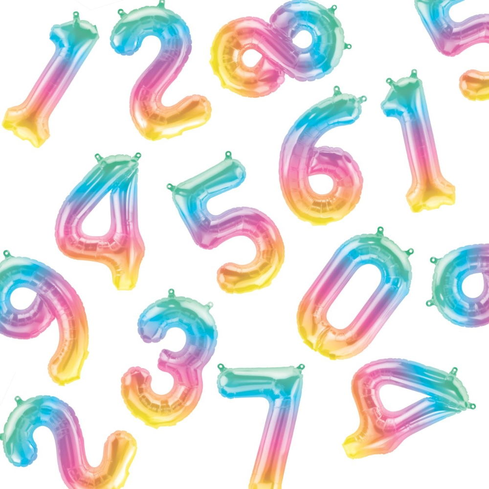 """16"""" Number Jelli Ombre Balloon"""