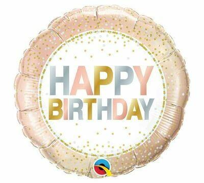 """18"""" Birthday Metallic Dots Balloon"""