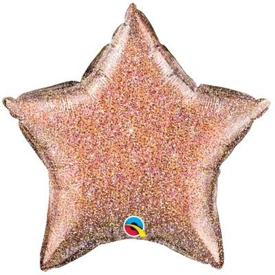20' Rosegold Glittergraphic Star Balloon 2289718