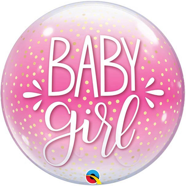 "22"" Baby Girl Pink Deco Bubble Balloon"