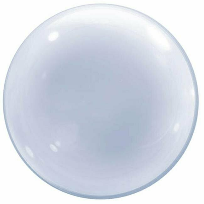 "20"" Clear Deco Bubble Balloon"