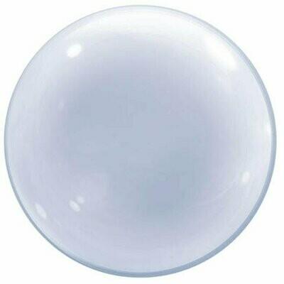 "20"" Clear Deco Bubble Balloon"