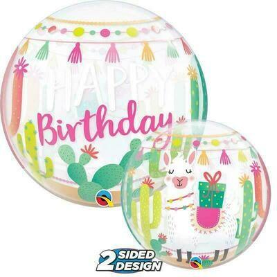 "22"" Llama Birthday Deco Bubble Balloon"