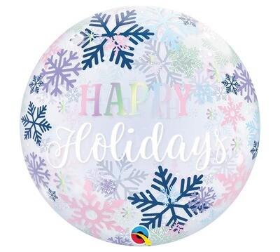 """22"""" Happy Holiday Bubble Balloon"""