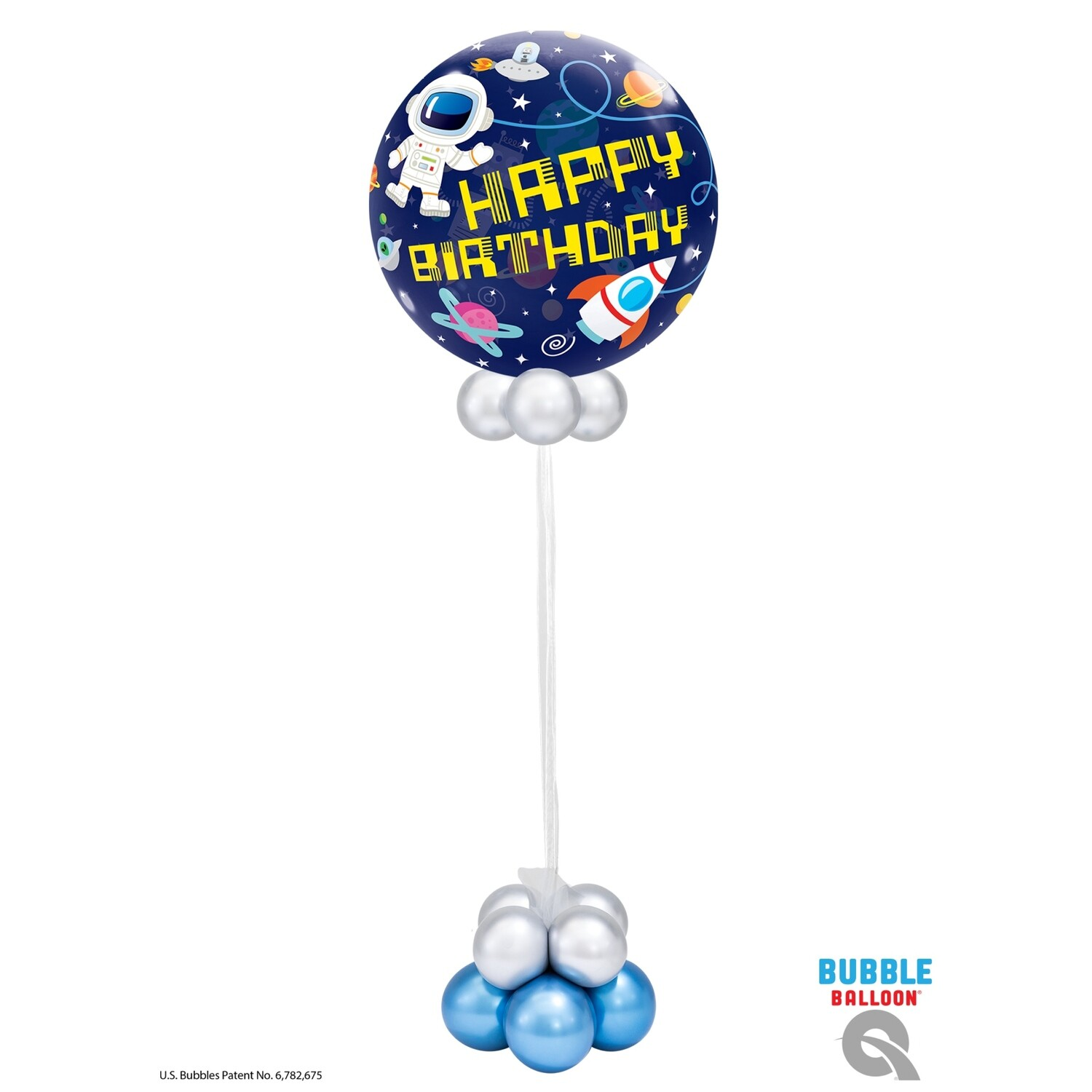 Happy Birthday Outer Space Astronaut Balloon Bouquet Design