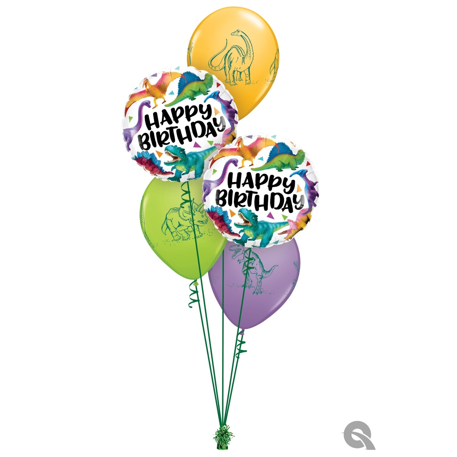 Happy Birthday Dinosaur Balloon Bouquet Design