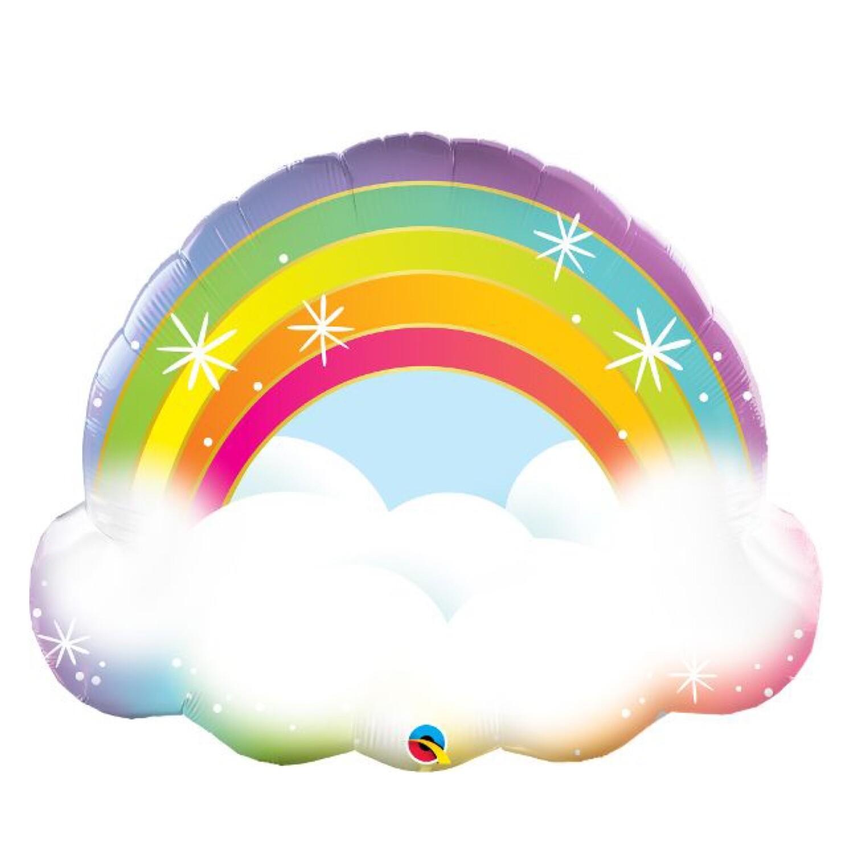 "32"" Rainbow & Cloud Shape Balloon"