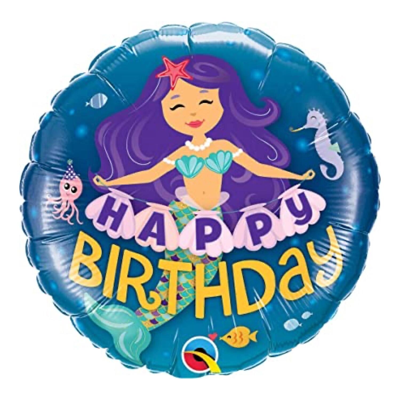 "18"" Happy Birthday Mermaid Foil Balloon"