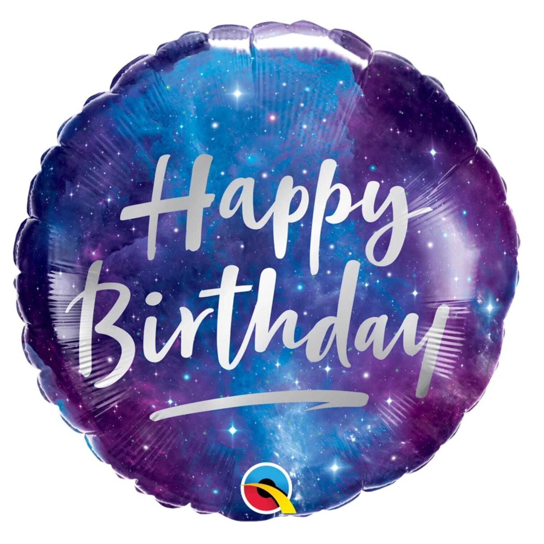 """18"""" Happy Birthday Galaxy Balloon"""