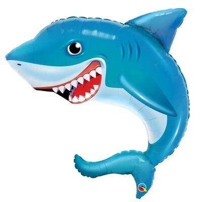"""36"""" Smilin Shark Shape Balloon"""