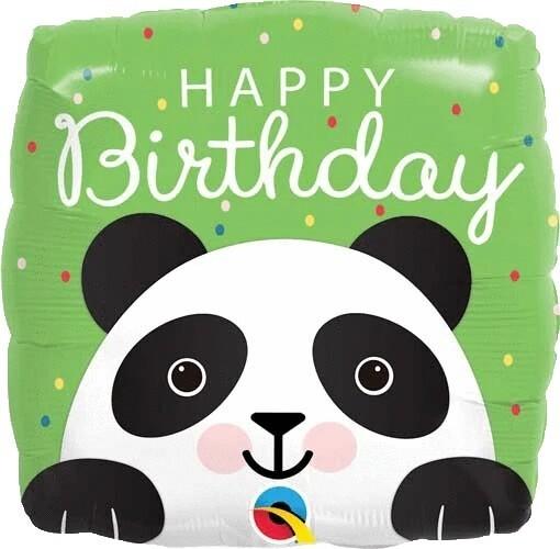 "18"" Birthday Panda Square Ballon"