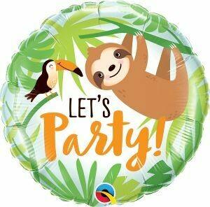 "18"" Toucan & Sloth ""Let's Party"" Balloon"