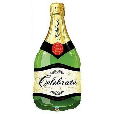 """39"""" Celebrate Bubble Wine Bottle Shape"""
