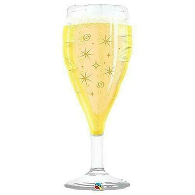 "39"" Bubbly Wine Glass XL Shape Balloon"