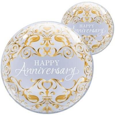 """22"""" Anniversary Deco Bubble Balloon"""