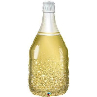 """39"""" Golden Bubbly Wine Bottle Shape Balloon"""