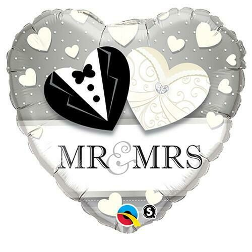 "18"" ""Mr & Mrs"" Wedding Heart Shape"