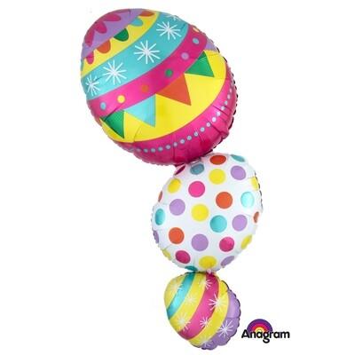 """38"""" Jumbo Happy Easter Stack Balloon"""