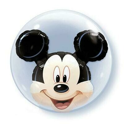 "24"" Disney Mickey Mouse Stuffed Double Bubble Balloon"